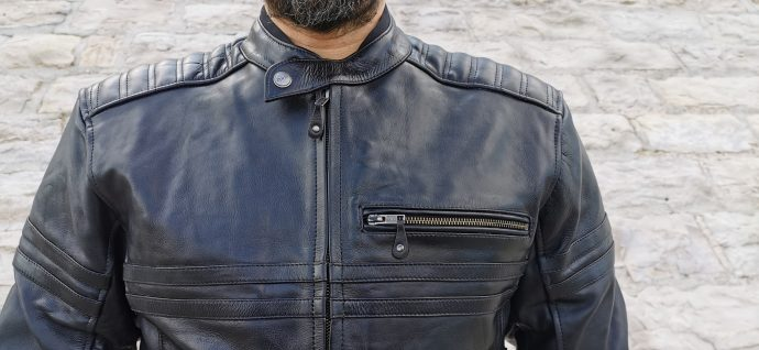 le blouson en cuir DXR Legend Full Balck