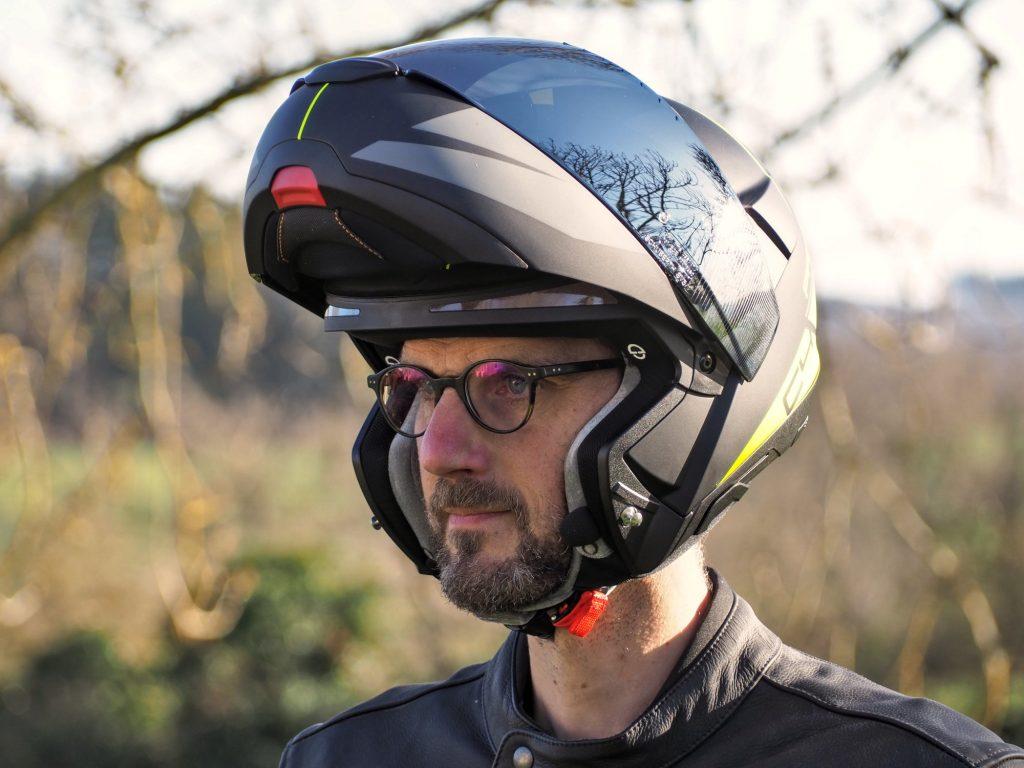Schuberth C4 Pro et lunettes