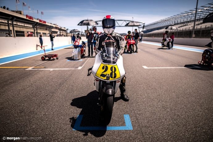 Florian Goguet en 125 sur le championnat motos 2-temps Klass GP-Motoblouz
