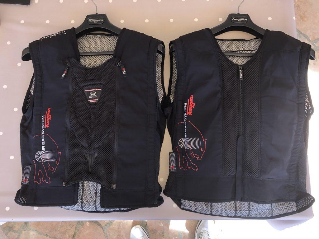 Furygan Fury Airbag System – L'ancien à gauche, le nouveau à droite