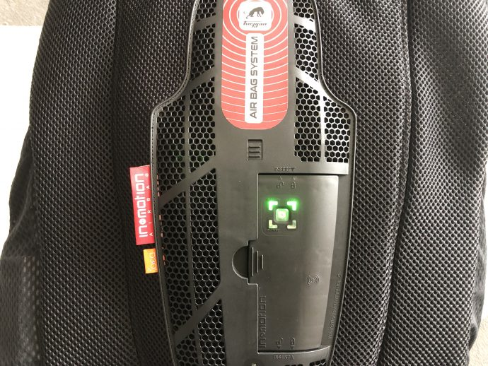 chaleco Fury Airbag System con In&box instalado
