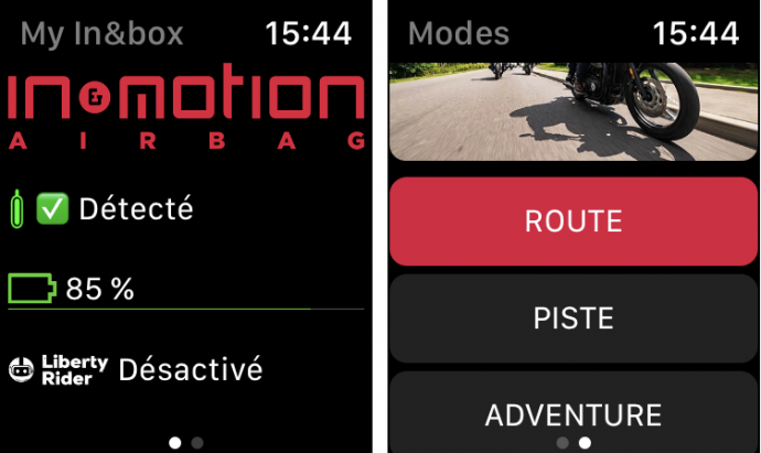 Furygan Fury Airbag System: la aplicación para Apple Watch