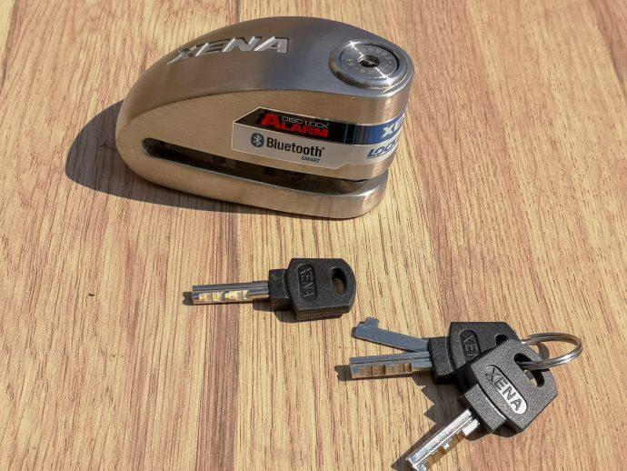 trousseau de 3 clés livré avec l'antivol bloque disque Xena avec alarme SRA XX15