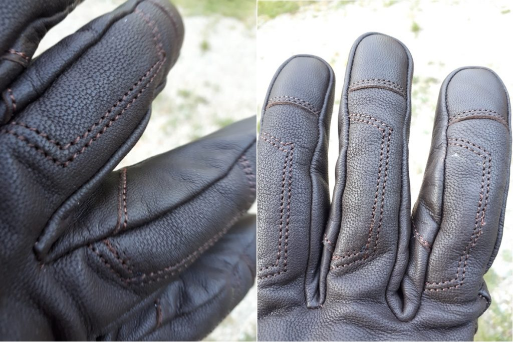 focus sur les coutures des gants DXR Townhall