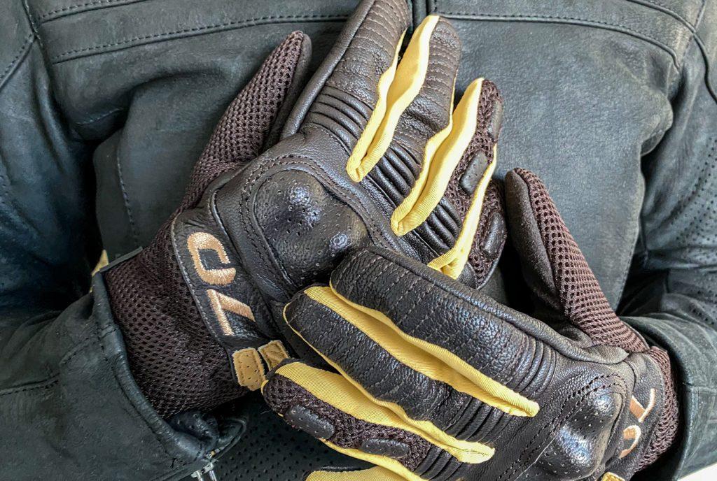 essai des gants Segura Lady Melbourne en marron et beige