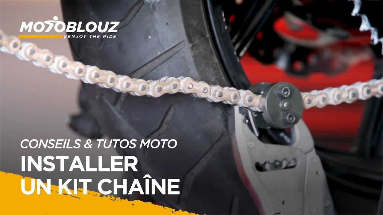 Changer son kit chaîne moto, le tuto vidéo