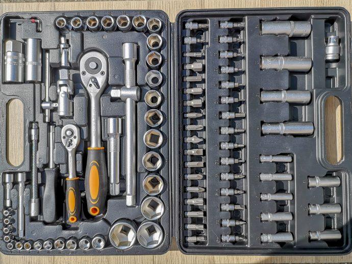 Contenu complet du coffret d'outils Hi-Q Tools