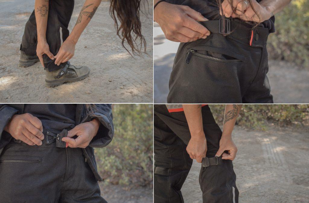 multiples ajustements du pantalon Rev'it