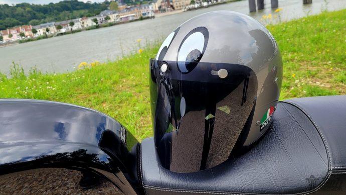 dessin simpliste pour le casque AGV X70 Montjuic