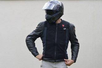 essai du gilet airbag Smart Jacket de Dainese
