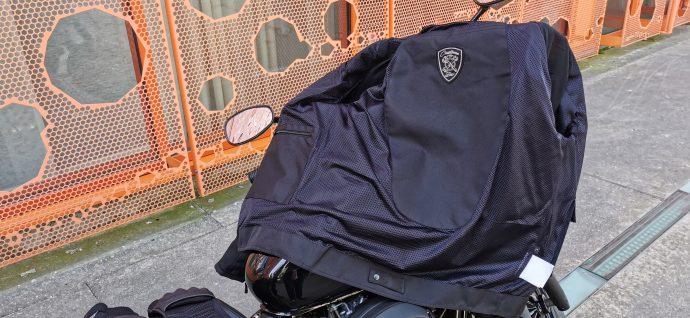 poche intérieure pour protection dorsale sur le blouson DXR Swizzle Tex