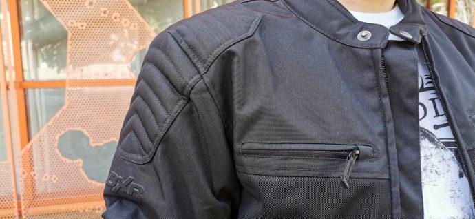 poche poitrine et rembourrage avec surpiqûre sur le blouson DXR Swizzle Tex