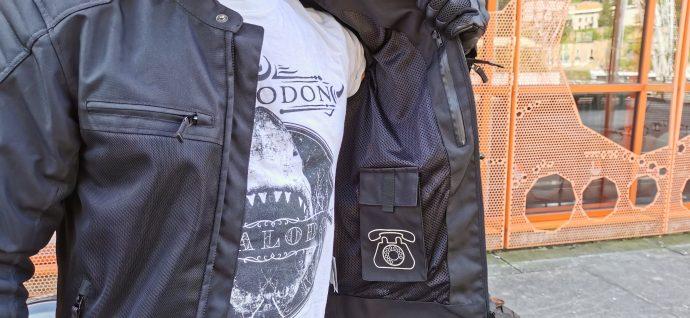 poches intérieures gauches du blouson DXR Swizzle Tex