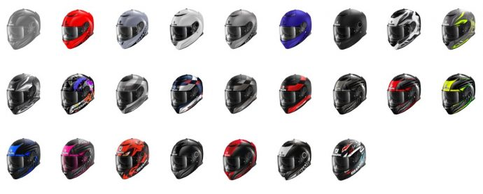 large choix de coloris pour le casque Shark Spartan Carbon 1.2
