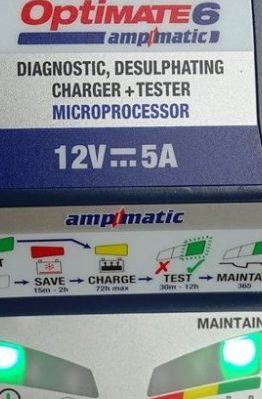 essai chargeur de batterie tecmate optimate 6