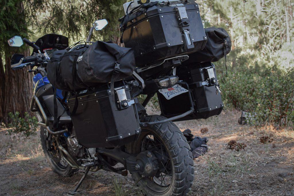 essai des valises Givi Trekker Outback