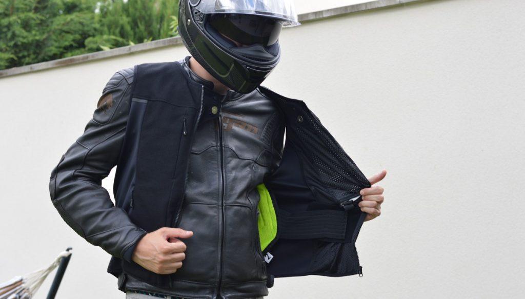 reglage air bag moto