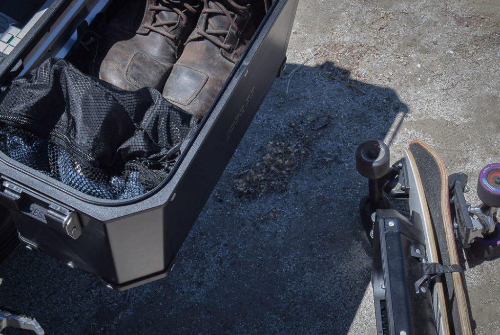 utilisation des valises Givi sans couvercle