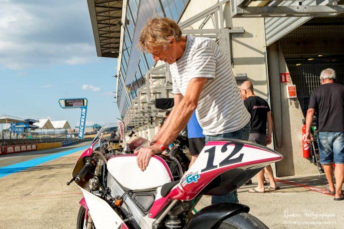 Pierre Guyonnet sur Honda 125 RS