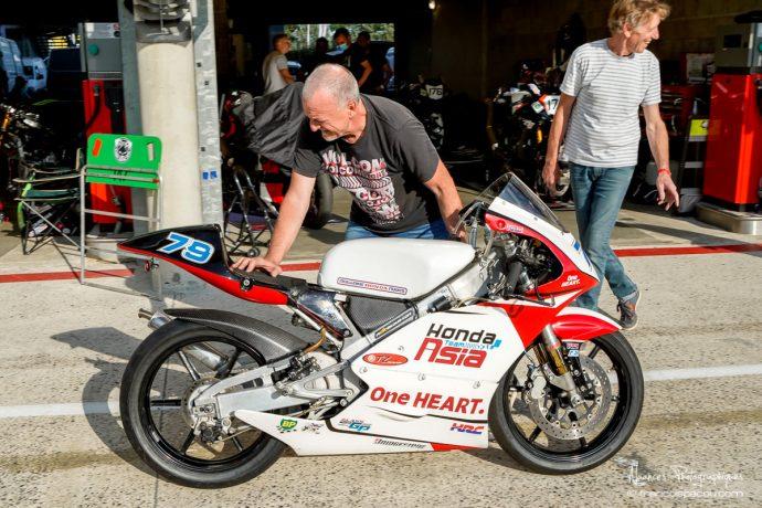 Roland Lagoutte sur Honda 125 RS